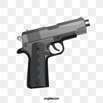 Black Pistol PNG Images.