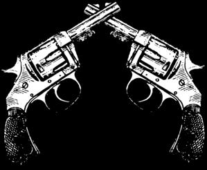 Crossed Pistol Clipart.