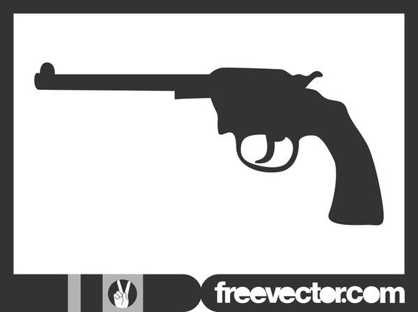 Gun Silhouette Free Vector.