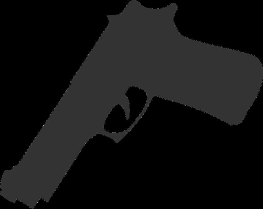 Free vector graphic: Gun, Weapon, Silhouette, Grey.