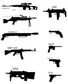 Guns silhouettes.