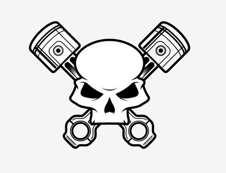 How To Create a Stylish Skull Based Vector Illustration.