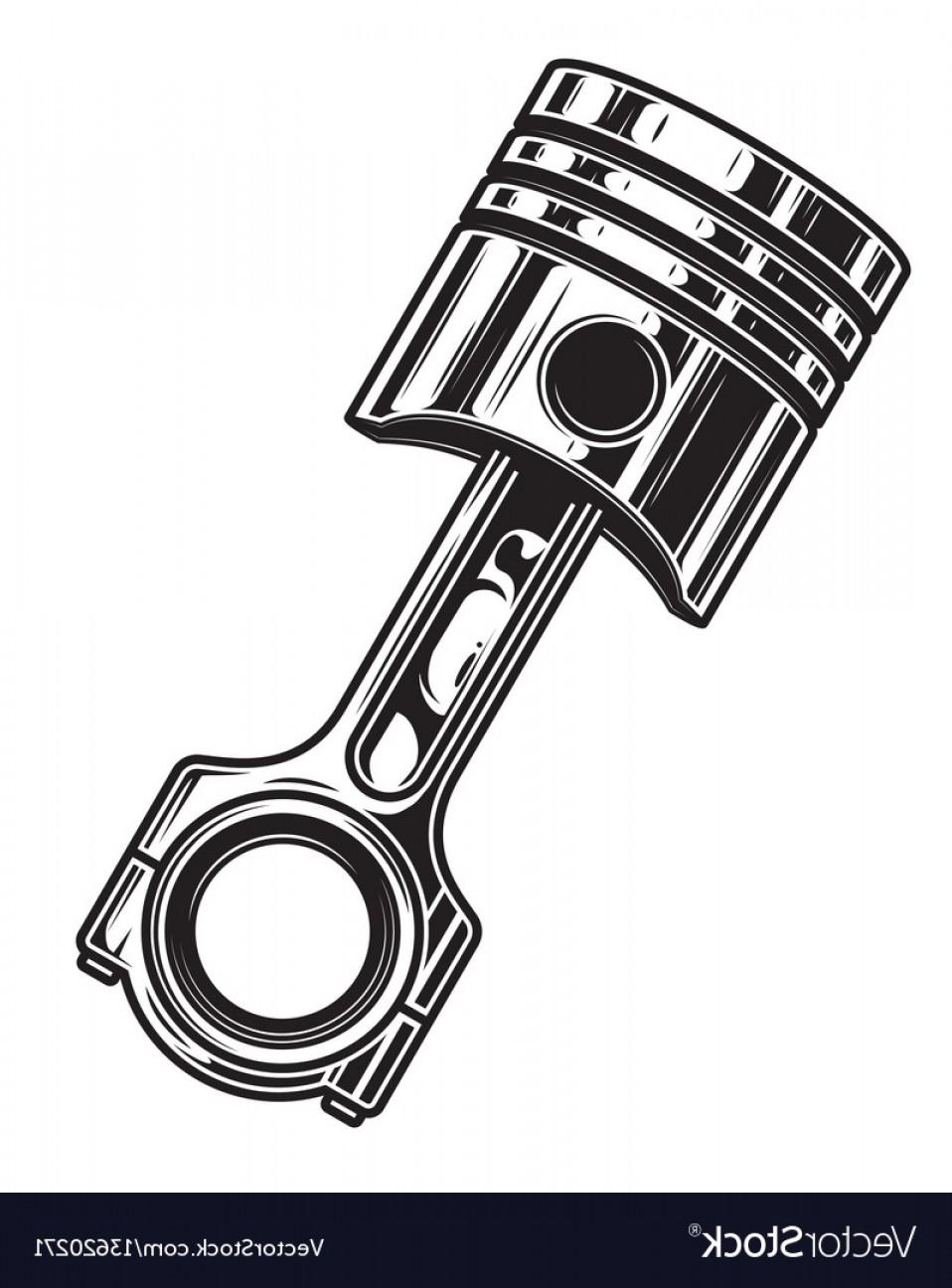 Engine Piston Vector Art.