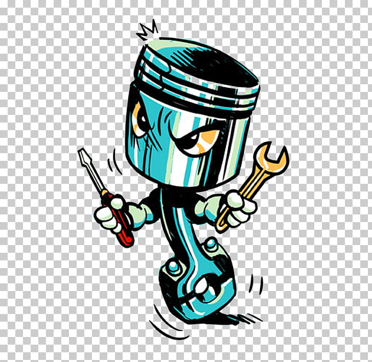Piston Drawing , design, teal and white illustration PNG.