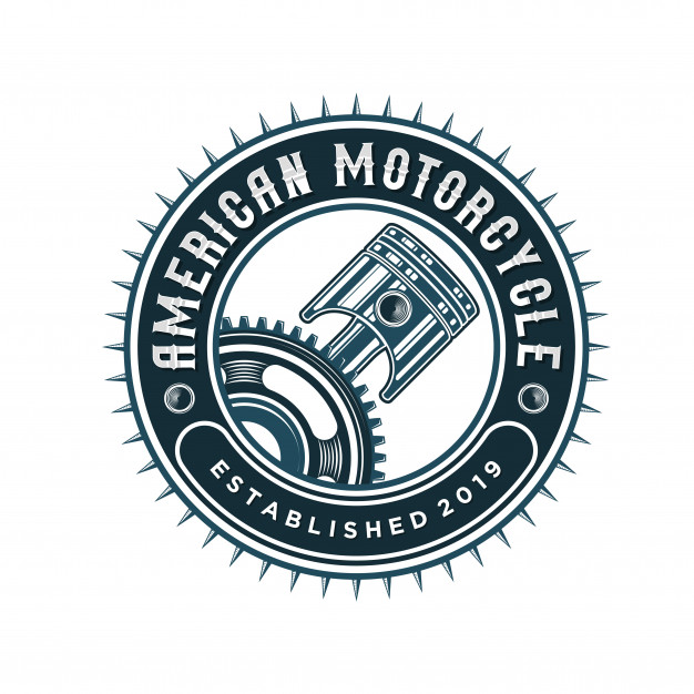 Piston logo for workshops and automotive Vector.