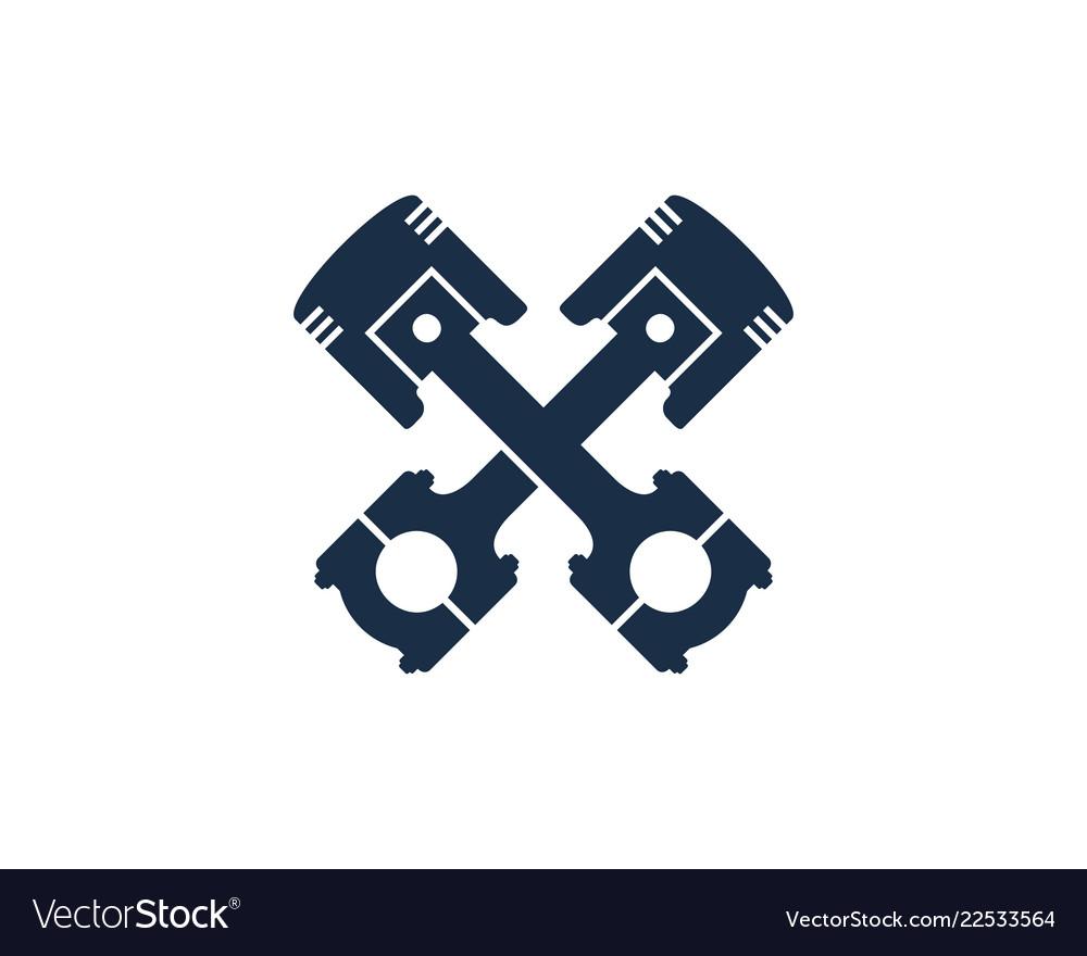 Piston automotive logo icon design.