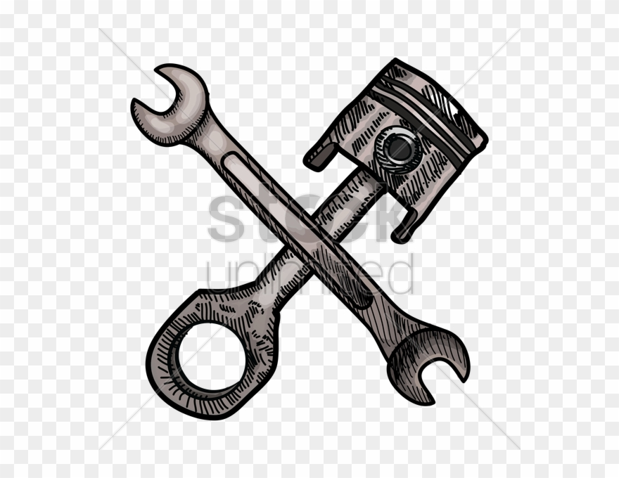 Piston Wrench Clipart Spanners Tool Clip Art.