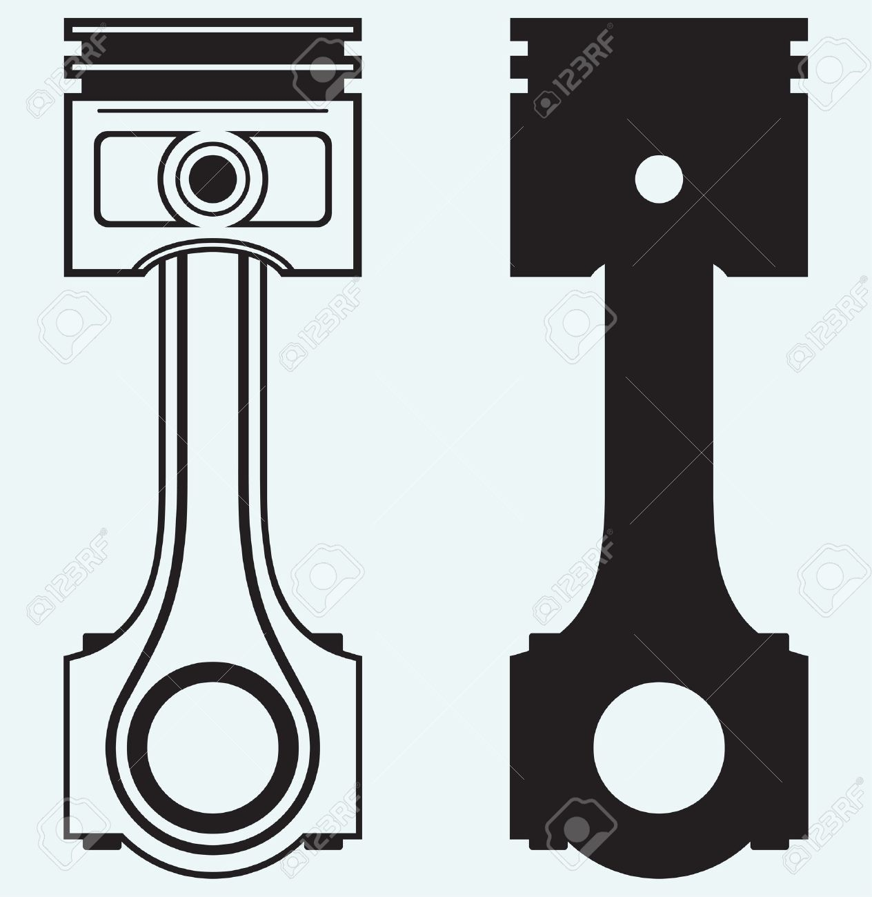 Pistons clipart no background.