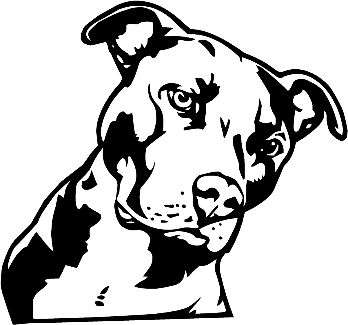 Pit bull dog clipart.