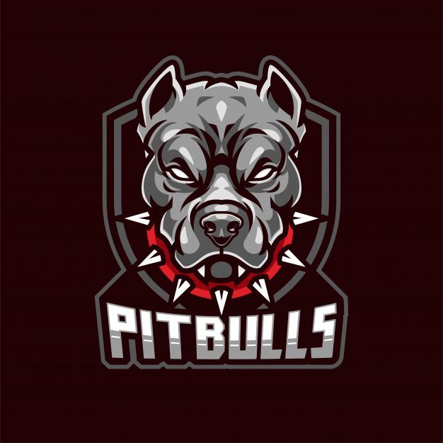Pitbull mascot logo Vector.