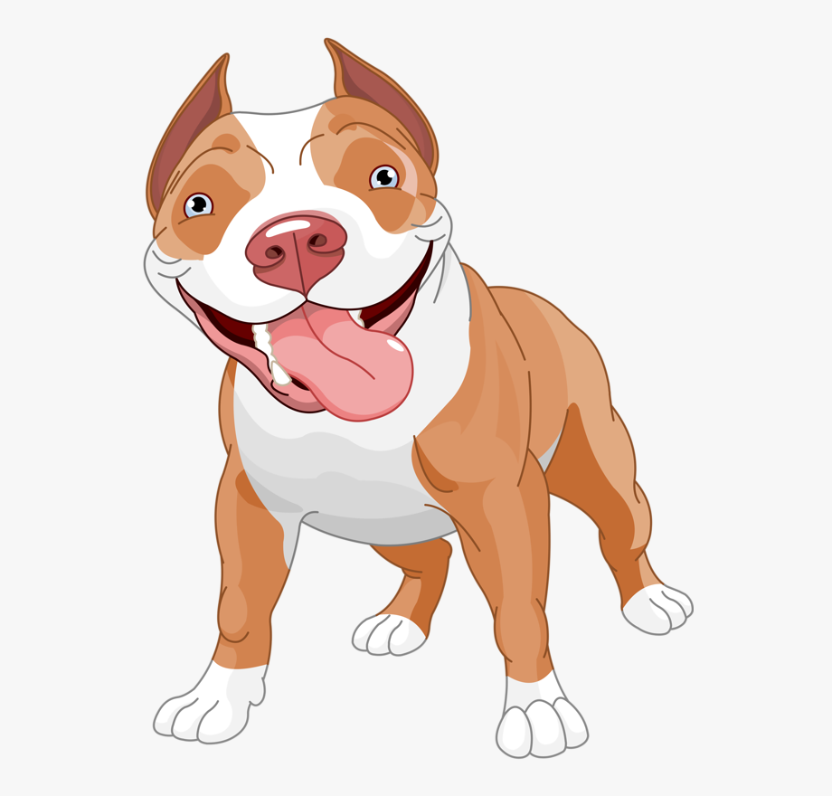 American Pit Bull Terrier Clip Art.