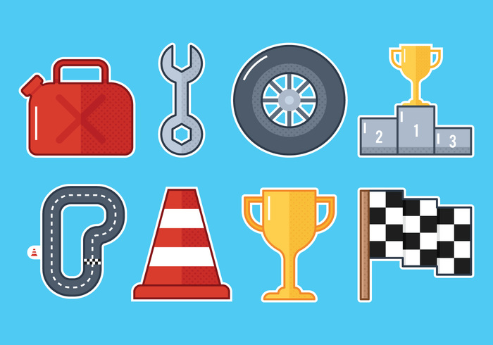 Pit Stop Icons.