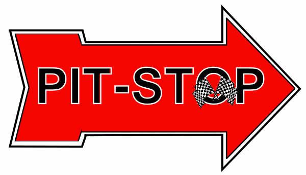 Car race pit stop clipart.
