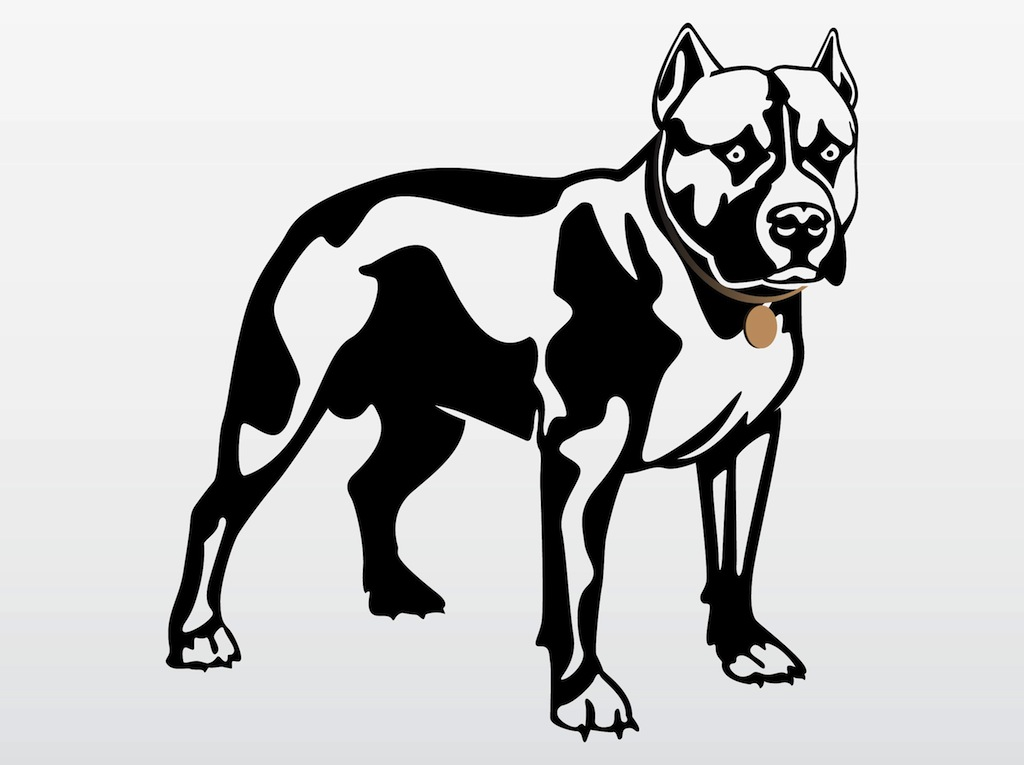 Free Pitbull Clipart Black And White, Download Free Clip Art.