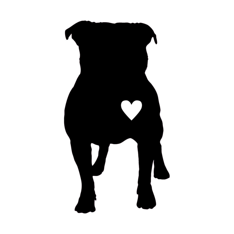 Pitbull silhouette.