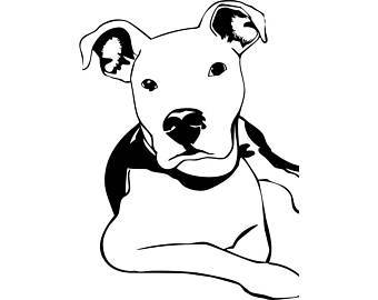 Pitbull clipart black and white 8 » Clipart Portal.
