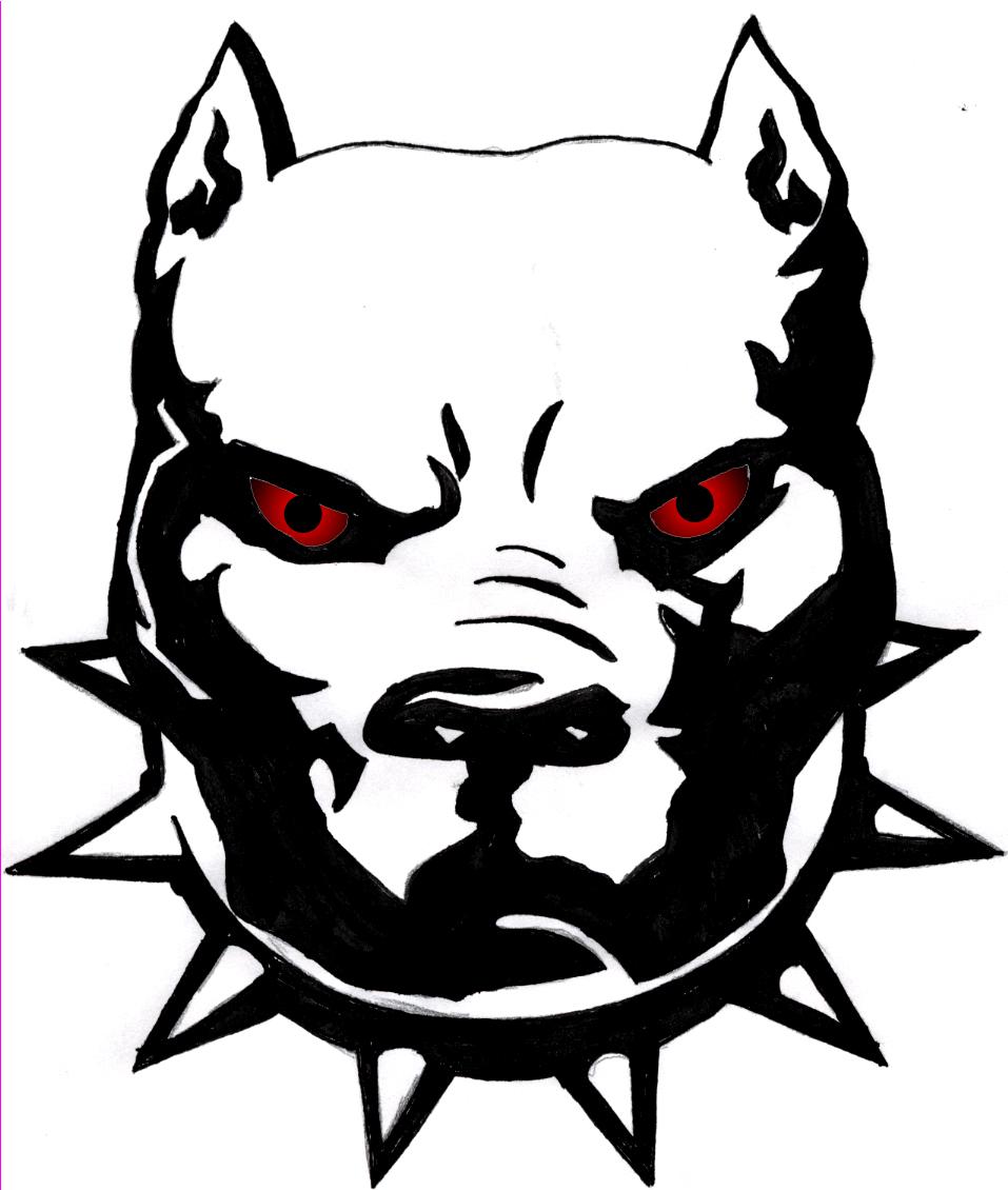 Free Pitbull Clipart Black And White, Download Free Clip Art.