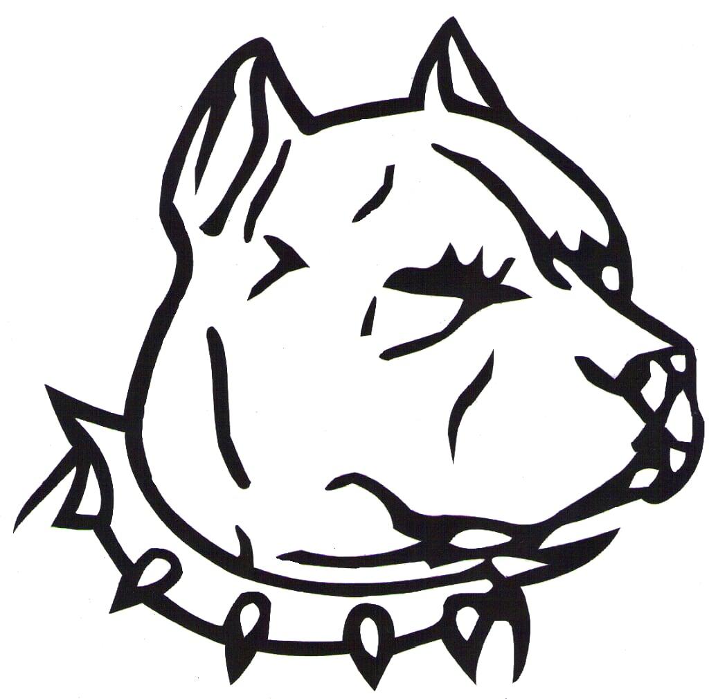 pitbull clipart black white - Clipground