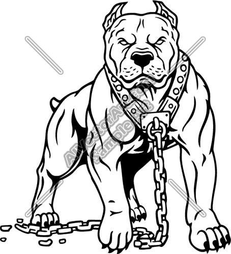 Pitbull Dog Clipart.