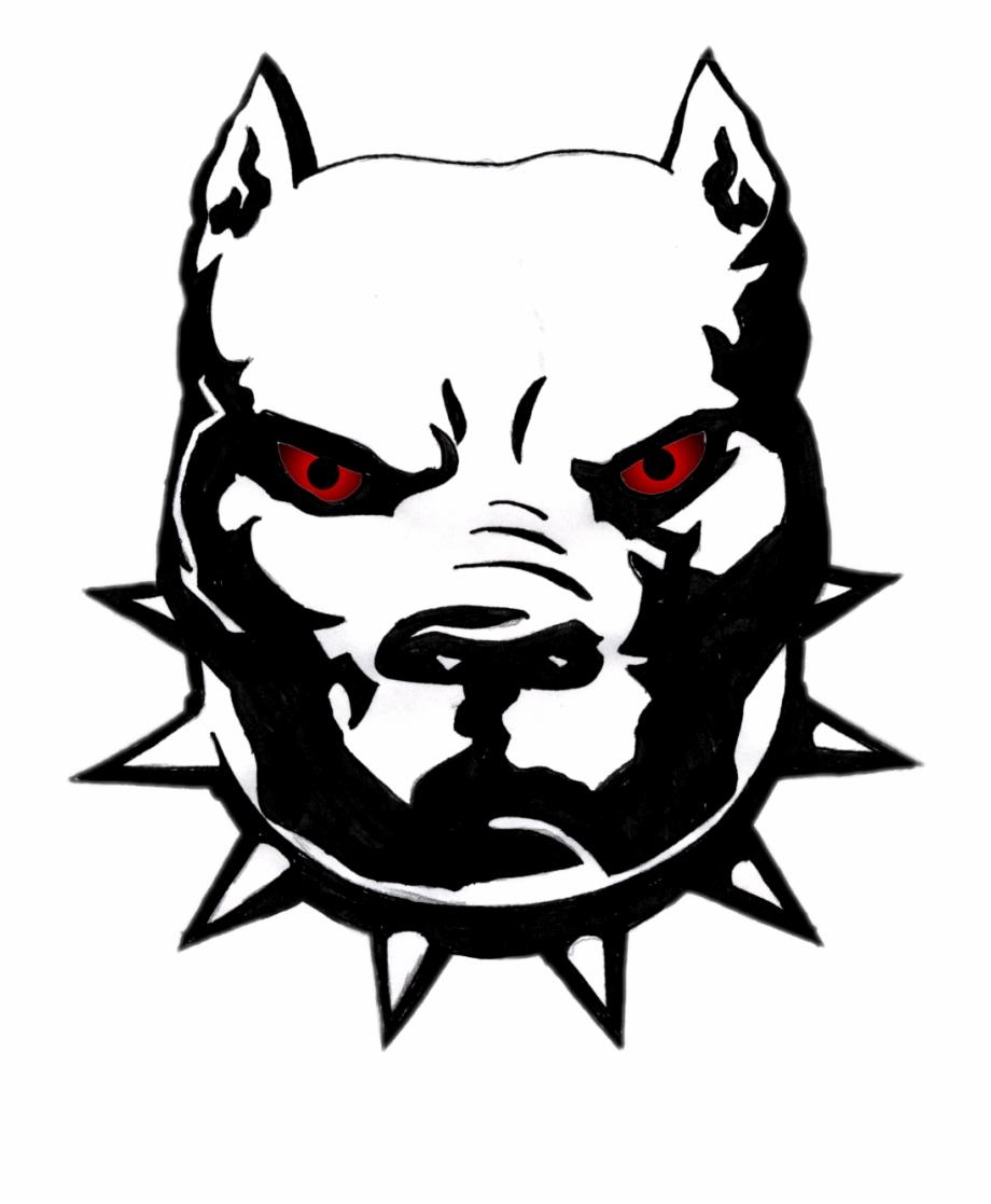 Pitbull Dog Drawing Face.