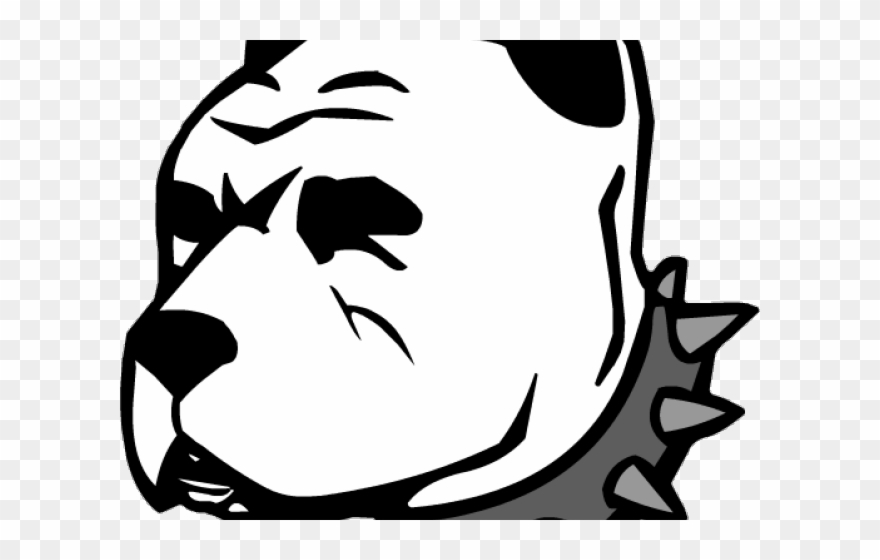 Black And White Pitbull Face Png Clipart (#529221).