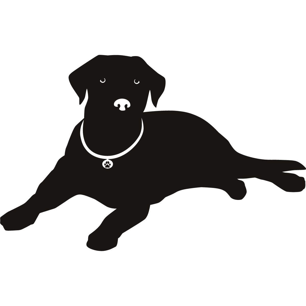 Labrador Nose Silhouette Dogs Wall Art Stickers Wall Decal.