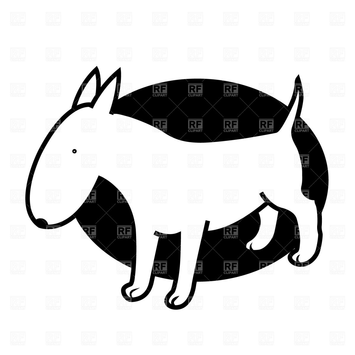 Silhouette Pitbull Puppy.