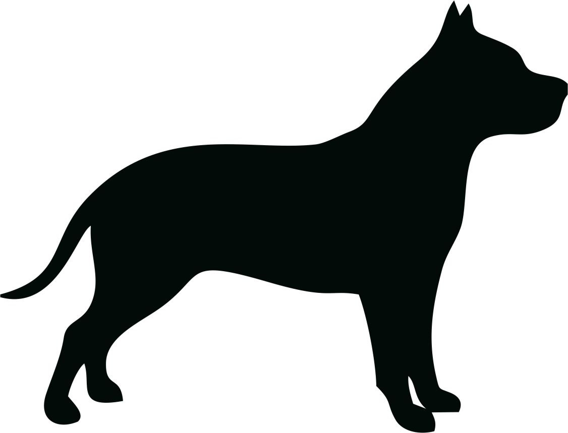 Pit Bull Dog Breed Silhouette Custom Vinyl Decal Sticker.
