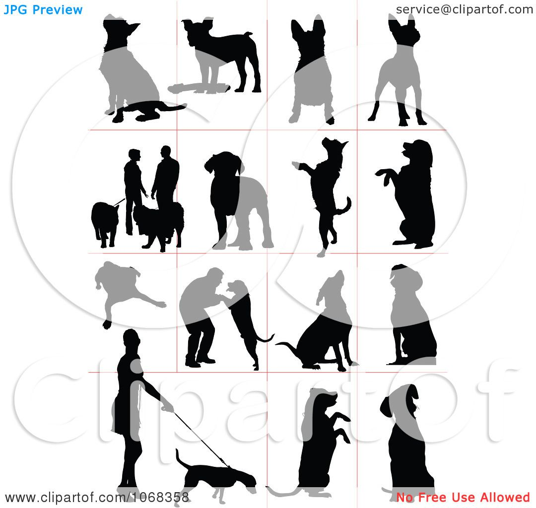 Clipart Dog Silhouettes 2.