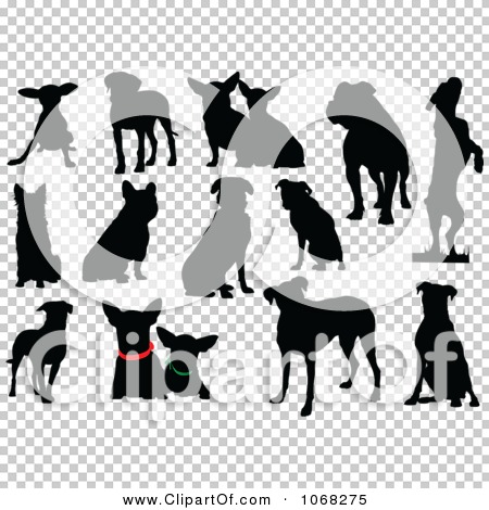 Clipart Dog Silhouettes 1.