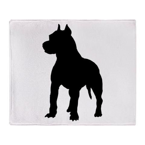 American Pitbull Silhouette Terrier Gifts Clipart.