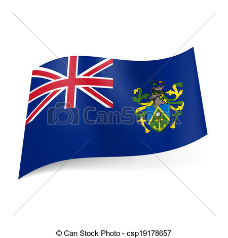 Clipart Vector of Flag of Pitcairn Islands.