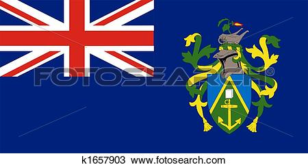 Drawing of Pitcairn Islands Flag k1657903.