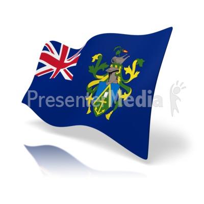 Flag Pitcairn Islands.