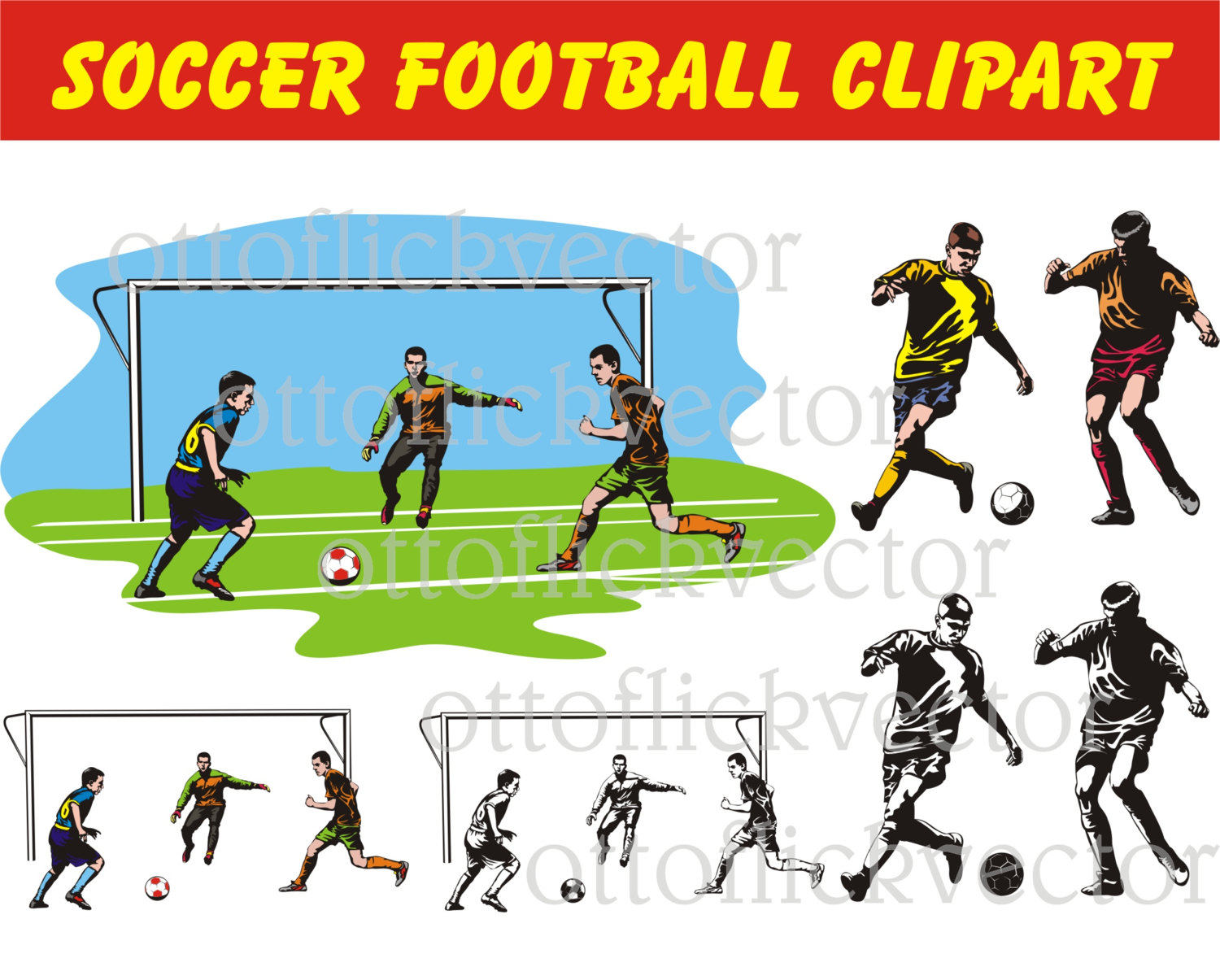 SOCCER FOOTBALL Vector CLIPART, eps, ai, cdr, png, jpg files.