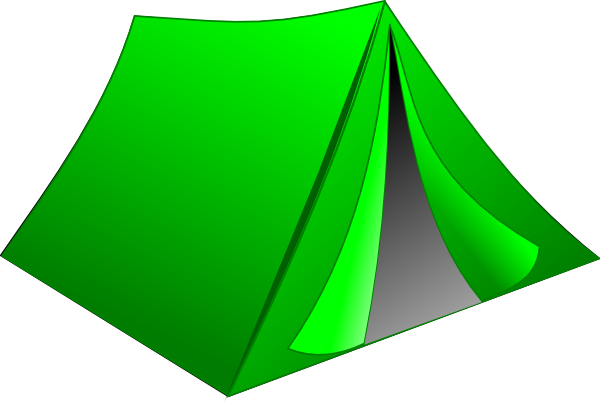 Green Pitched Tent Clip Art at Clker.com.