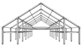 Steel Pitched Roof Stock Image.