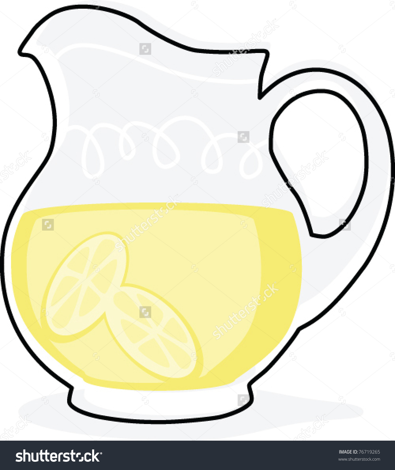 Lemonade Pitcher Clipart.