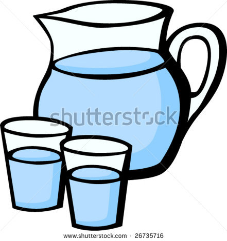Clipart water pitchers.