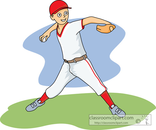 Throwing A Baseball Clipart.