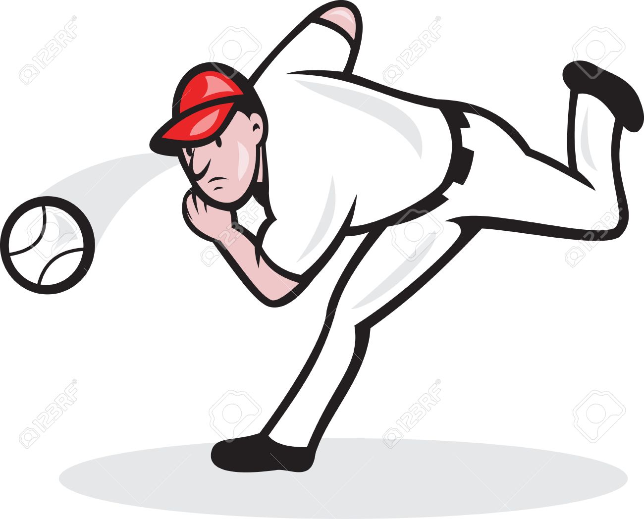 Baseball pitching clipart.