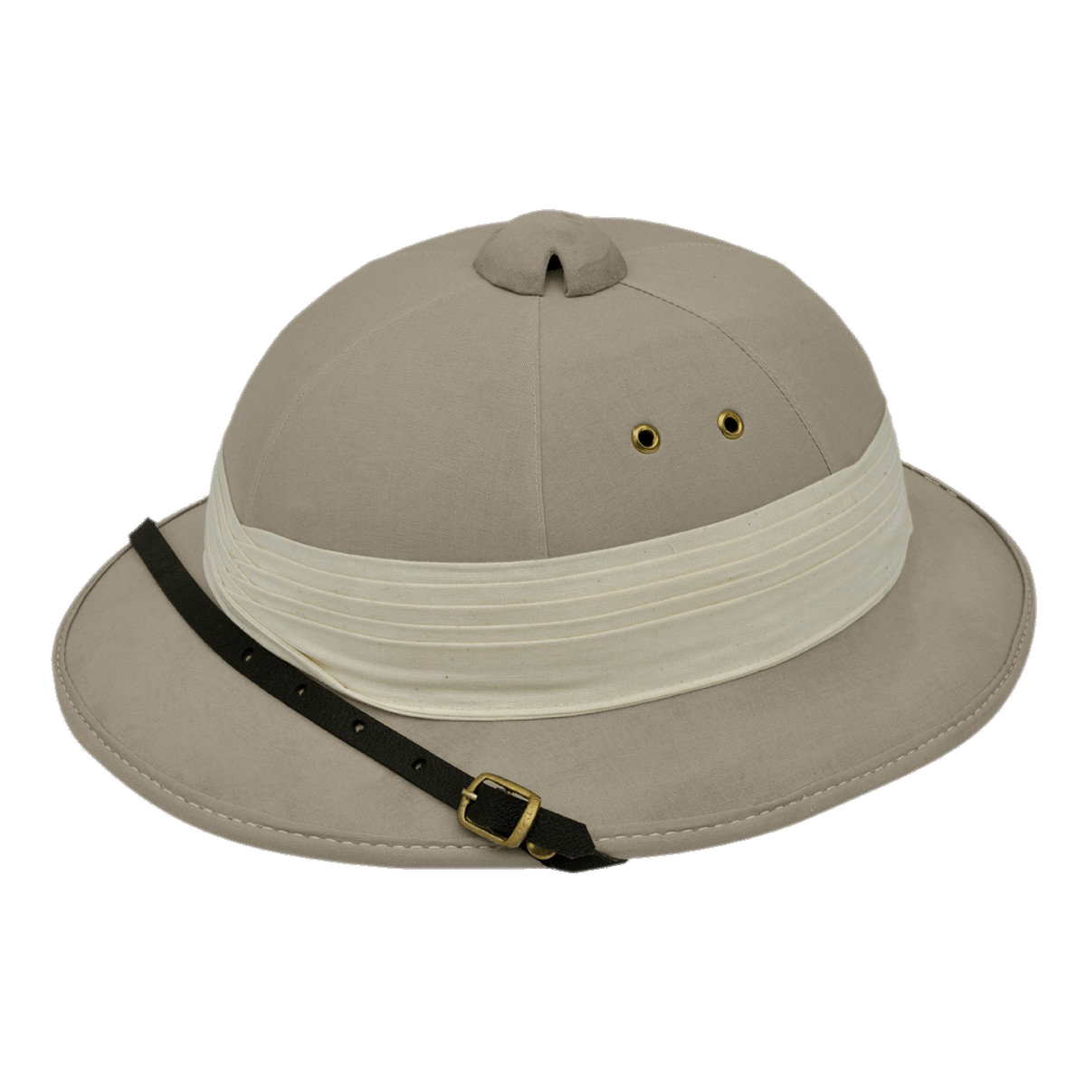 Safari Pith Helmet transparent PNG.