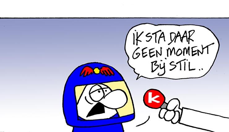 Max Verstappen traint slecht.