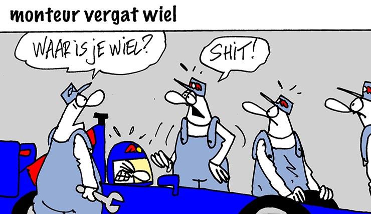 Drama voor Verstappen in Pitsstraat.