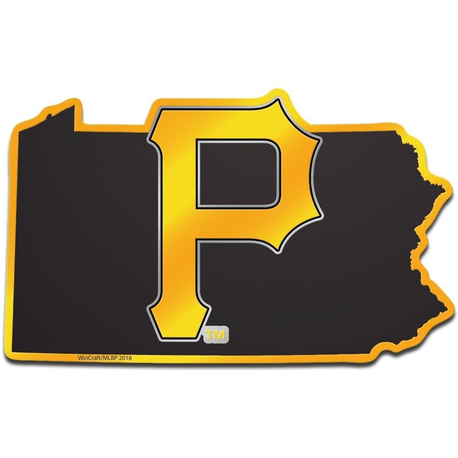 WinCraft Pittsburgh Pirates Metallic State Shape Acrylic Auto Emblem.