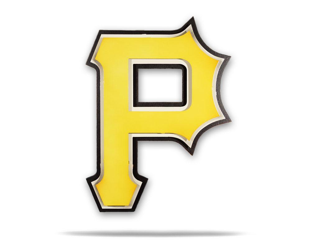 Pittsburgh Pirates P Logo 3D Metal Artwork.