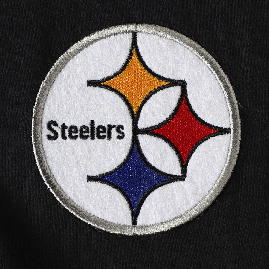 Men\'s Pittsburgh Steelers Mitchell & Ness Black Team Logo 3/4.
