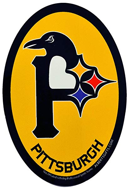 3 in 1 Pittsburgh Logo Sticker (4.5 inches high by 3 inches wide).