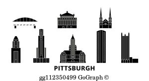 Pittsburgh Skyline Clip Art.