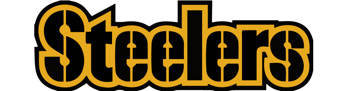 Logos and uniforms of the Pittsburgh Steelers NFL Dallas.